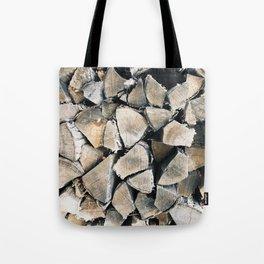 Woodpile I Tote Bag