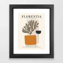 Exhibition poster Henri Matisse-Florentia. Framed Art Print