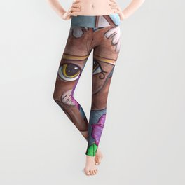 Absynian Cat Art Leggings