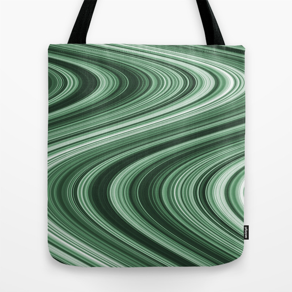 Green Wave Tote Purse by Designsdeborah (TBG9776178) photo