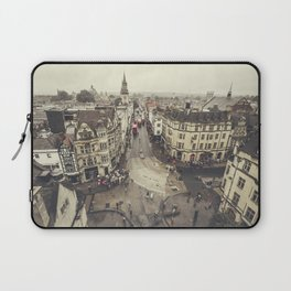 Red buses at Oxford Laptop Sleeve