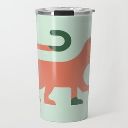 Orange Minimal Cat Travel Mug