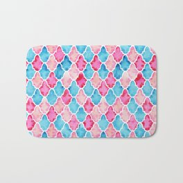 Colorful Moroccan style pattern Bath Mat