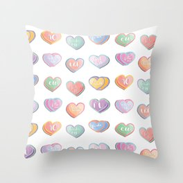 not your valentine. Throw Pillow