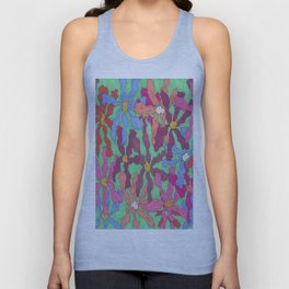 Colorful Retro Floral Print Unisex Tank Top