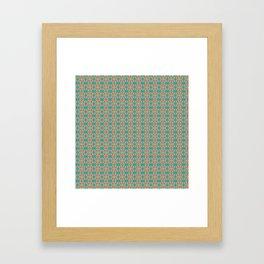 Southwestern Orange Turquoise Pattern Framed Art Print