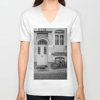 house V-neck T-shirts featuring House by Laura Arroyo