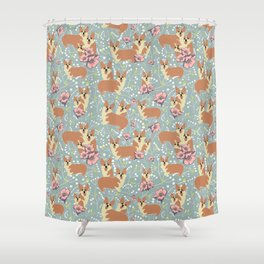 "The Pembroke Welsh Corgi Dog ""Dwarf Dog"" or Royal Corgis Shower Curtain"
