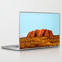 polygon Laptop & iPad Skins featuring uluru polygon by Matthias Hennig