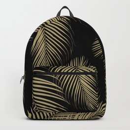 Palm Leaves - Gold Cali Vibes #4 #tropical #decor #art #society6 Backpack