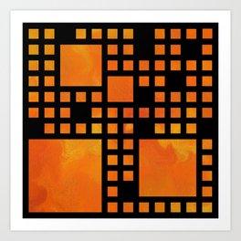 Visopolis V1 - orange flames Art Print