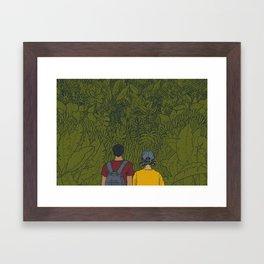 On Sunday Framed Art Print