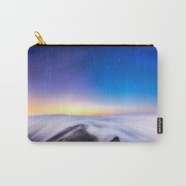 sea of clouds under starry night sky Carry-All Pouch