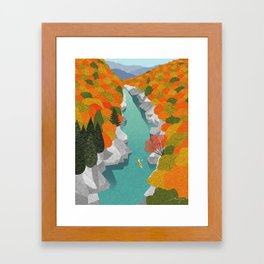 Autumn valley Framed Art Print