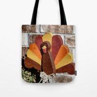 turkey Tote Bags featuring Turkey Day by IowaShots