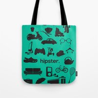 hipster Tote Bags featuring hipster by tycejones
