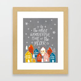 wondeful time of the year Framed Art Print