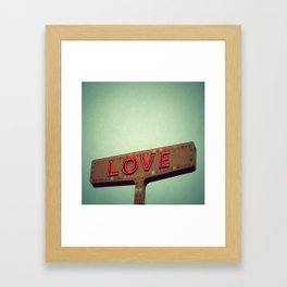 Love Signs Framed Art Print