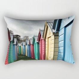 Beach Huts 01A Rectangular Pillow