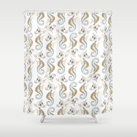 seahorse Shower Curtains featuring Seahorse by Sil Elorduy