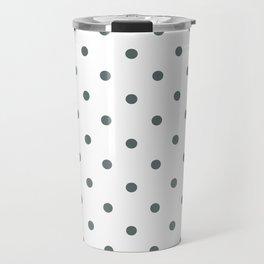 Polka Dots Pattern: Dark Grey Travel Mug