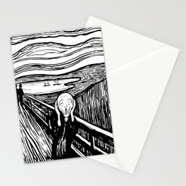 THE SCREAM - EDVARD MUNCH - LITHOGRAPH Stationery Cards