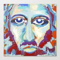 jesus Canvas Prints featuring Jesus  by melissa lyons