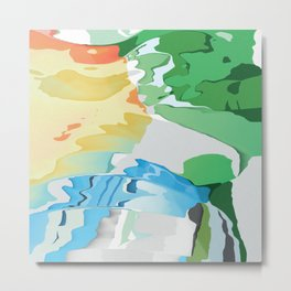 Who likes Red Blue and Green? Metal Print