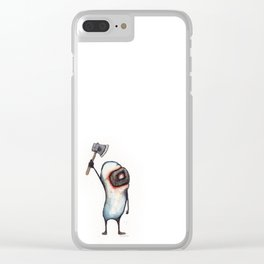 Beanman with Axe Clear iPhone Case