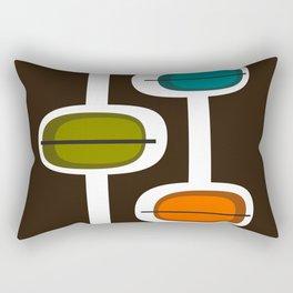 Three Pod Tower Mid Century Modern Print Rectangular Pillow