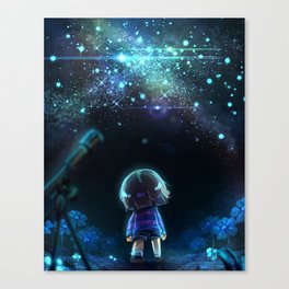 Starry (Night) Undertale Canvas Print