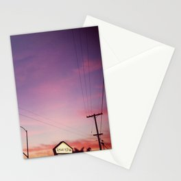 a december evening. Stationery Cards
