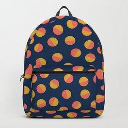 Navy & Gold Polka Dots Backpack