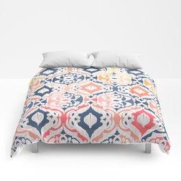 Tropical Ikat Damask Comforters
