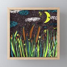 Summer Cattails Framed Mini Art Print