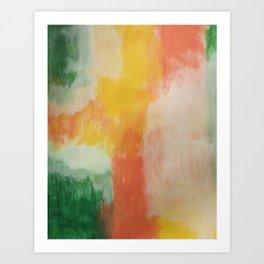 multi color wall art Art Print