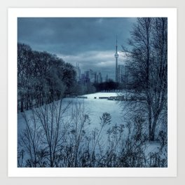 Blue Winter in Toronto Art Print