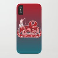 mario kart iPhone & iPod Cases featuring Mario Kart 8 Champion by Kody Christian