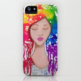 Rainbow Girl iPhone Case