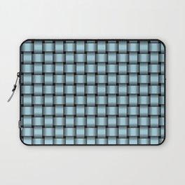 Small Light Blue Weave Laptop Sleeve