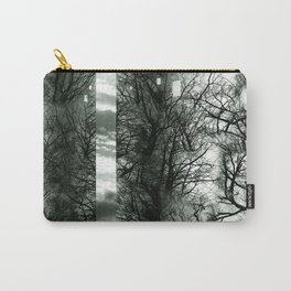 Wood Space Black and White Carry-All Pouch