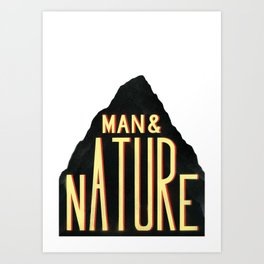 Man & Nature Art Print
