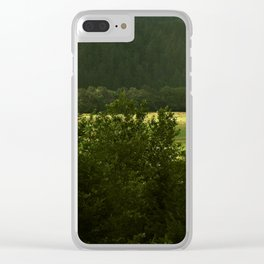 Barn In The Meadow Clear iPhone Case