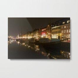 Nyhavn at night Metal Print