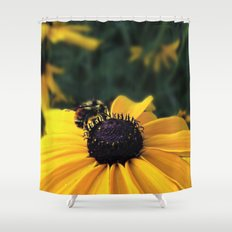 Lone Bee Shower Curtain