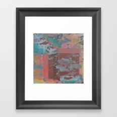 Peeling Pastel Framed Art Print