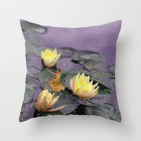 tinker bell Throw Pillows featuring tinker bell & tiger lilies by EnglishRose23