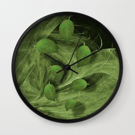 Leaves blowing in the wind Wall Clock