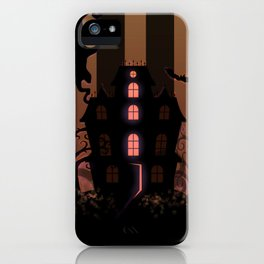 Be it ever so Haunted, there's no place like Home - Brown iPhone Case
