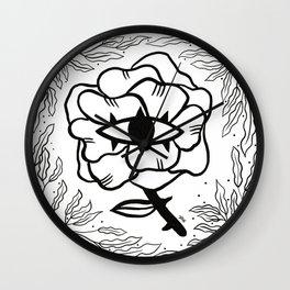 Wisdom Rose Wall Clock